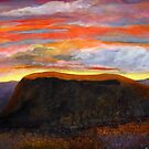 Sunset over Black Mesa by cruserart