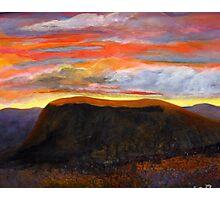 Sunset over Black Mesa Photographic Print