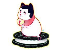 Black PuppyCat Sticker by Kyuupeach