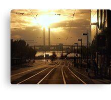 Evening Trackscape Canvas Print