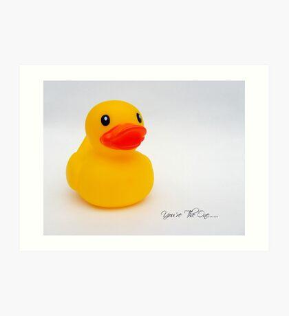Rubber Ducky.......... Art Print