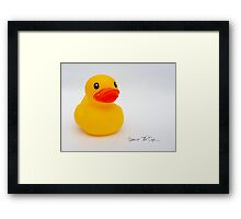Rubber Ducky.......... Framed Print