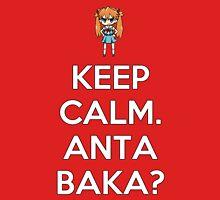 Keep Calm. Anta Baka? Womens Fitted T-Shirt