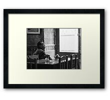 Contemplative Mood Framed Print