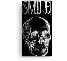 Smile! - White Canvas Print