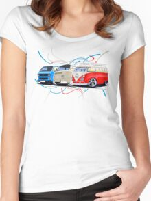 VW Bus Collection Women's Fitted Scoop T-Shirt