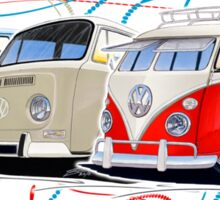 VW Bus Collection Sticker