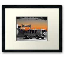 Silver van Framed Print