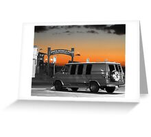 Silver van Greeting Card