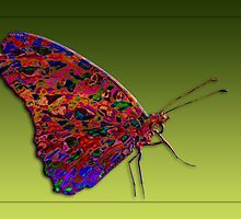 Batik Butterfly by Bonnie T.  Barry