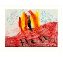 Angry Art Hellbound Art Print