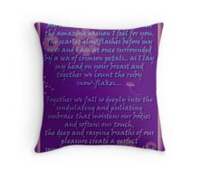 Bouquet  of Orgasms card Throw Pillow