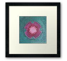 Serene Pink Lotus Mandala Framed Print