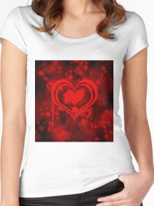 hearty Women's Fitted Scoop T-Shirt