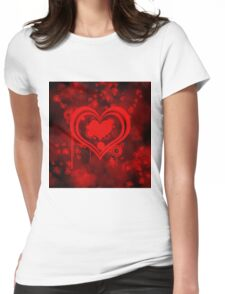hearty Womens Fitted T-Shirt