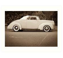 sepia roadster Art Print