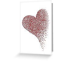 Dot Matrix Heart Greeting Card