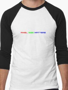 Pixel Size Matters (RGB Version) Men's Baseball ¾ T-Shirt