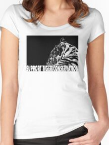 Support Tiger Conservation Women's Fitted Scoop T-Shirt