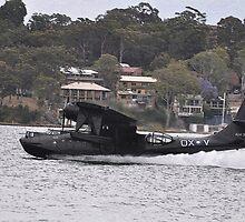 Catalina Water Take-off, Lake Macquarie, Australia 2012 by muz2142