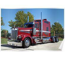 Kenworth Semi Truck with Custom Sleeper Poster