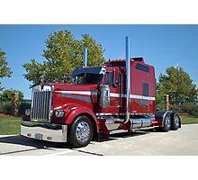 Kenworth Semi Truck with Custom Sleeper Photographic Print
