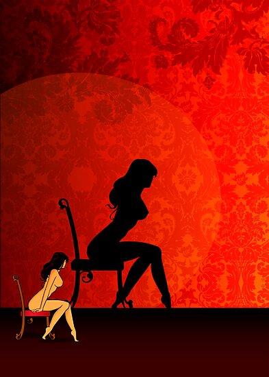 Burlesque girl by Lara Allport