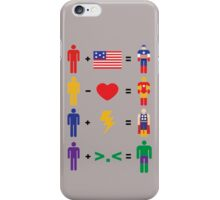 Birth of superheroes iPhone Case/Skin