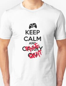 Keep calm and rage! Unisex T-Shirt