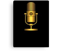 Golden Microphone Canvas Print