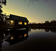 Bush Retreat At Dusk. Tenterfield, NSW, Australia by Ralph de Zilva