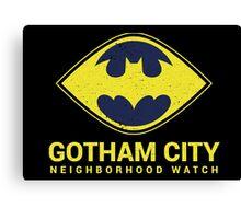 Gotham City Neighborhood Watch Canvas Print