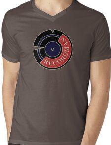 Recordman Mens V-Neck T-Shirt