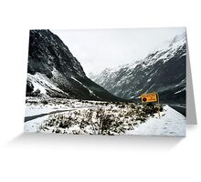 Avalanche Zone Greeting Card