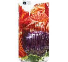 Oriental Poppy - Just Open iPhone Case/Skin