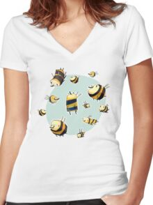 Sweet Women's Fitted V-Neck T-Shirt