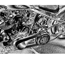 Belt Drive Shovelhead HD Photographic Print