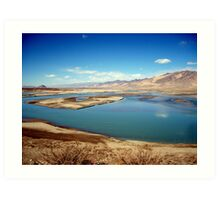 lakes on the plateau Art Print