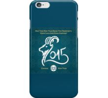 HAPPY NEW YEAR 2015 , YEAR OF GOAT iPhone Case/Skin