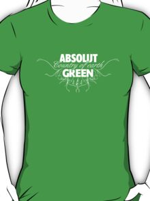 """ABSOLUT GREEN """"Country of earth"""" T-Shirt"""