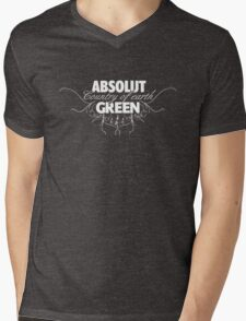 "ABSOLUT GREEN ""Country of earth"" Mens V-Neck T-Shirt"