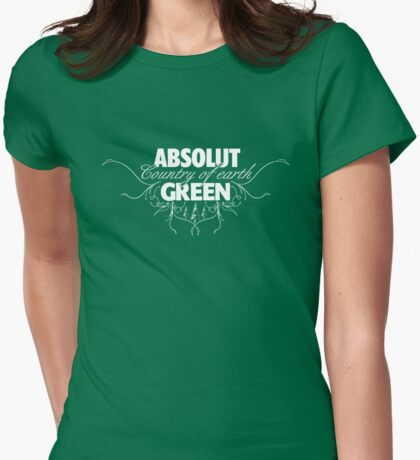 """ABSOLUT GREEN """"Country of earth"""" Womens Fitted T-Shirt"""