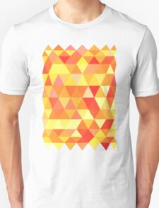 Red Orange Yellow Color Pattern Combination T-Shirt