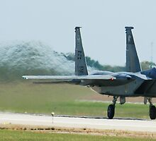 F-15 Eagle Full Throttle Take off by Paul Lenharr II
