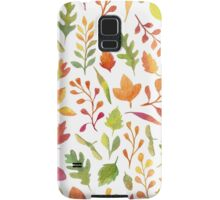 Watercolor autumn leaves pattern Samsung Galaxy Case/Skin