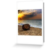 Rusty Sunset Greeting Card