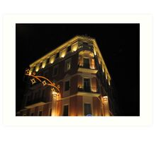 Magnificent hotel illuminated Art Print
