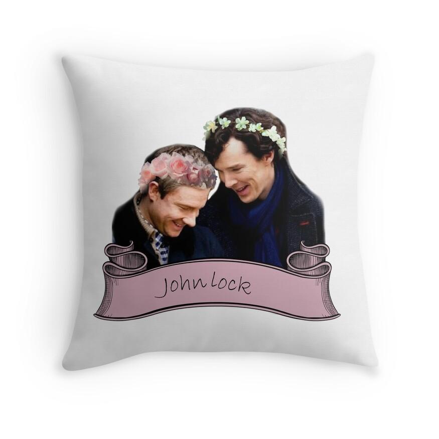 Johnlock   Throw Pillow