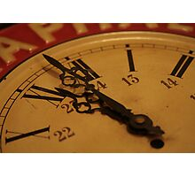 even a stopped clock tells the right time twice a day! Photographic Print