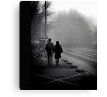 { early morning walk } Canvas Print